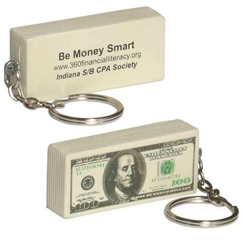 $100 Bill Stress Ball Key Chains