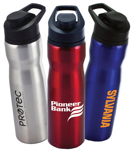 28 oz. Stainless Steel Tomcat Bottles with Flip Top Lid