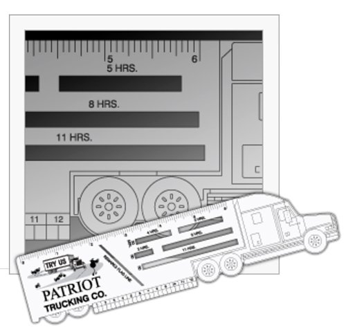 Trucker Logbook Ruler - Truck Shape