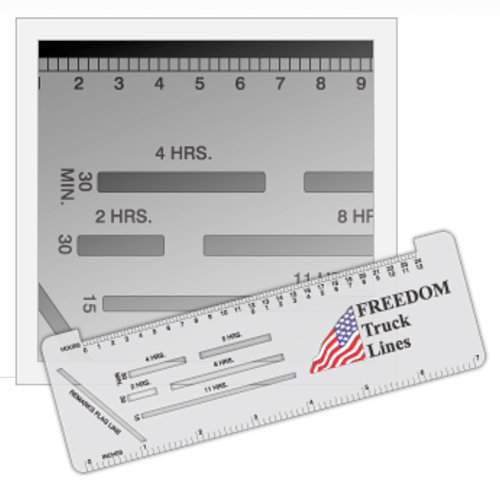 Trucker Logbook Ruler with Raised Edge