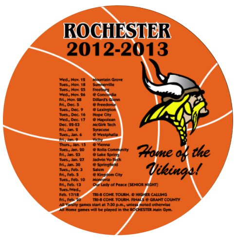 "5.5"" Basketball Sports Schedule Magnets"