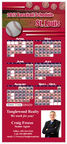 Professional Baseball Sports Schedule Magnets