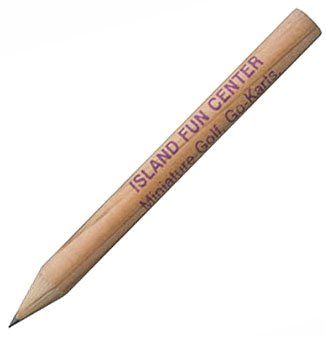 Round Golf Pencils with Natural Finish