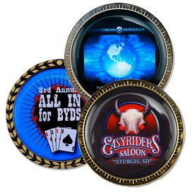"1.75"" Dia. Full Color Epoxy Dome Speed Challenge Coins"