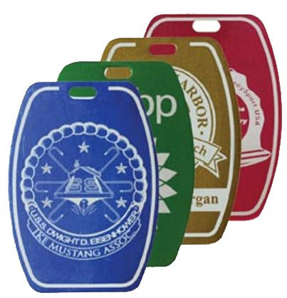 Laser Engraved Aluminum Golf Bag Tags