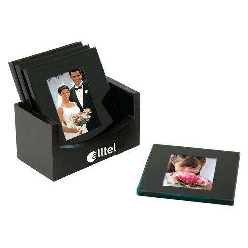 Square Glass Photo Coaster Sets