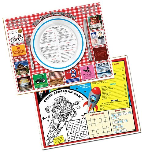 11 x 14 Economy Full Color Paper Placemats