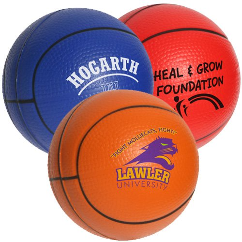 Basketball Squishy : Basketball Stress Balls - Colors - Custom Promotional Products by PrintGlobe