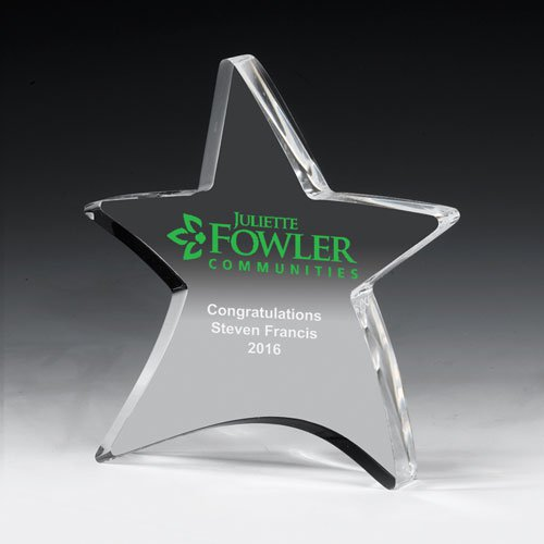 "3/4"" Acrylic Moving Star Paperweights"