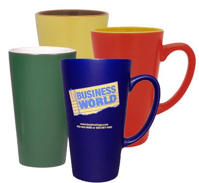16 oz. Latte Mugs with Satin Finish