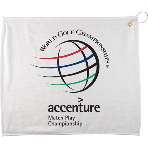 "15"" x 18"" White Golf Towels"