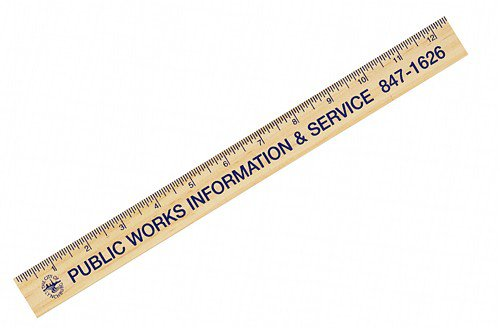 Natural Finish Wood Rulers - 12""