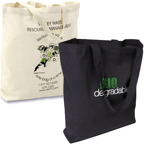 15.5 x 15 Biodegradable Cotton Econo Totes