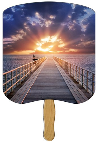 Church Hand Fans - Sunrise Design
