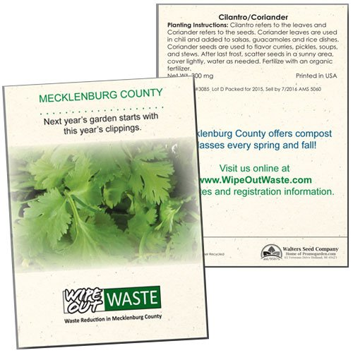 Cilantro / Coriander Seed Packets