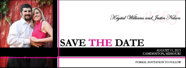 "Save The Date Magnets - Rectangle 2"" x 5.5"""