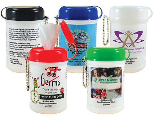 Hand Sanitizer Mini Wipe Canisters