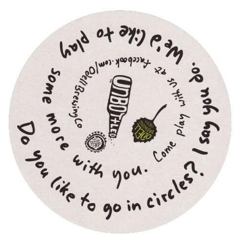 "4"" Round Medium Weight Pulpboard Coasters - High Quantity"