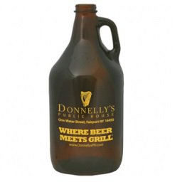 64 oz. Amber Growlers