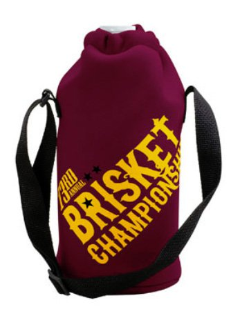 Neoprene Growler Cover with Drawstring and Strap