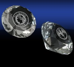Diamond Crystal Paperweights