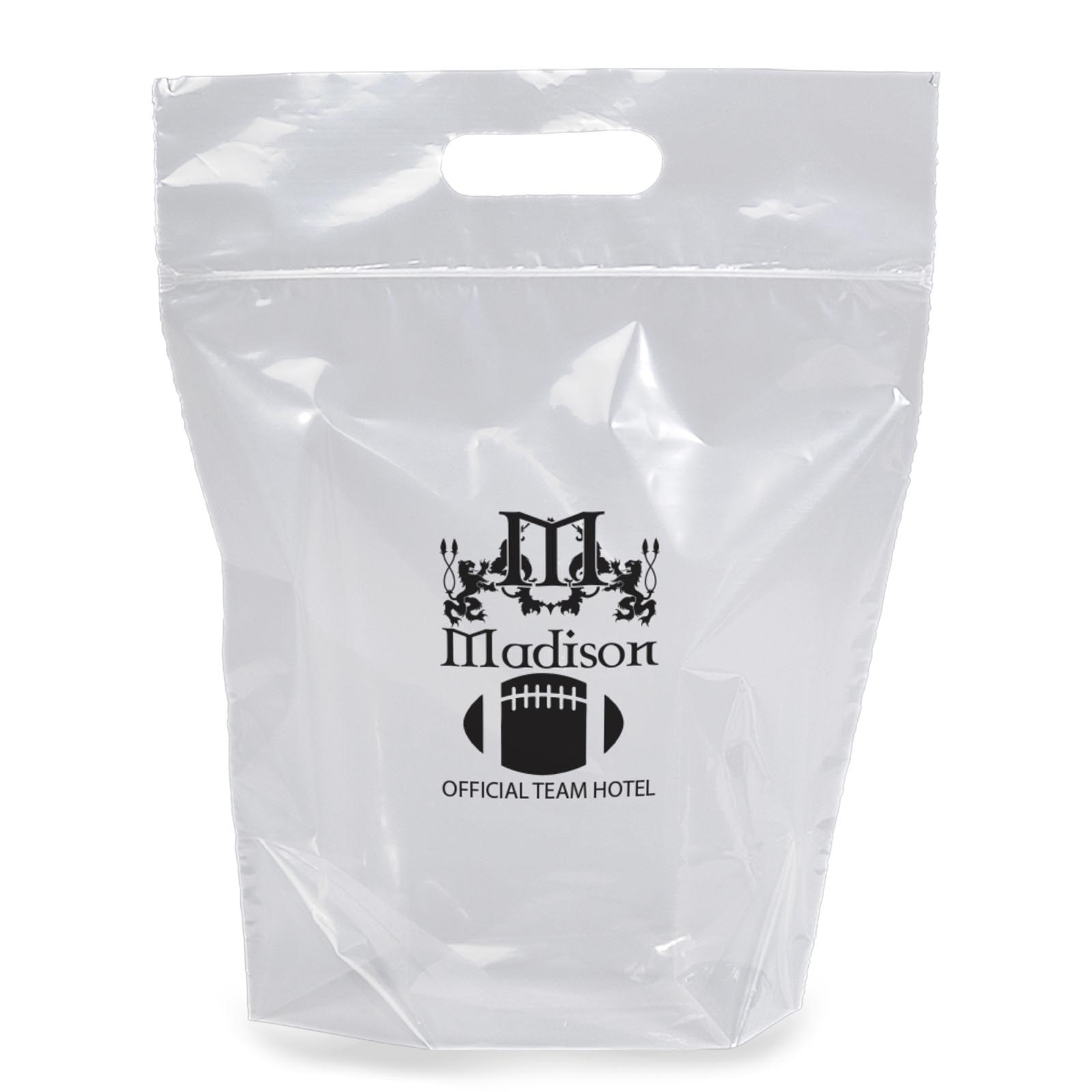 12 x 12 Zip-Close Die Cut Plastic Stadium Bags