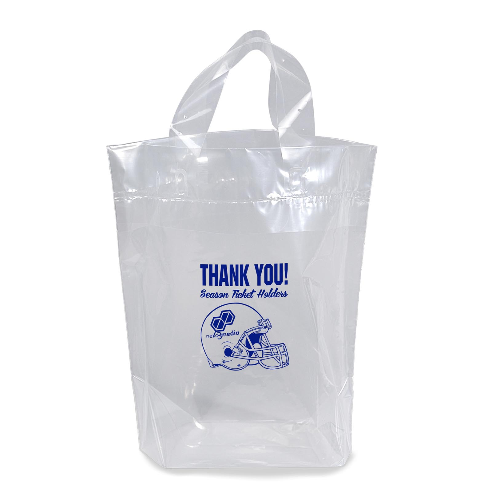 12 x 12 Soft Loop Handle Plastic Stadium Bags