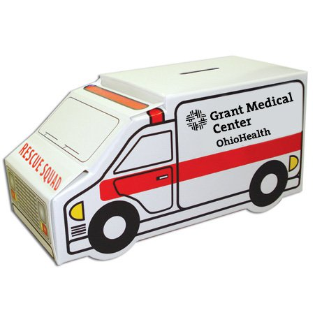 Ambulance Poster Board Coin Banks