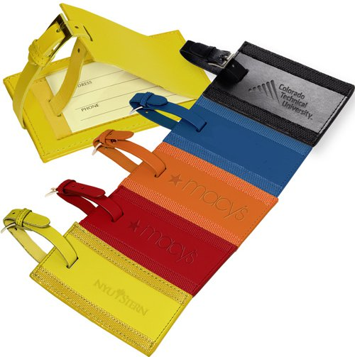 Leeman Majestic Leather Luggage Tags