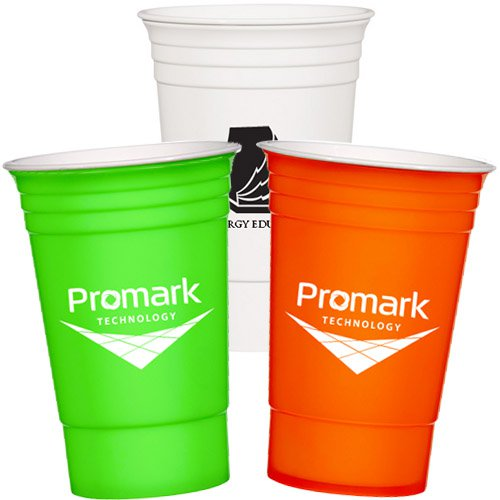 16 oz. Double Wall Tri-Edge Poly Cups - USA Made