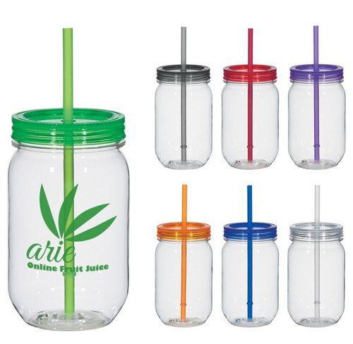 25 oz. Clear Tritan Mason Jar - Low Minimum