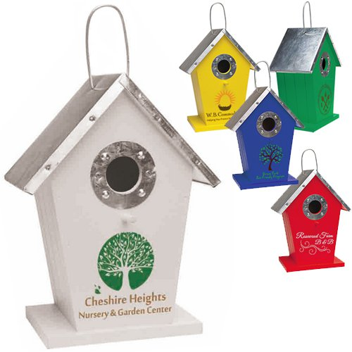 Wood and Metal Birdhouses