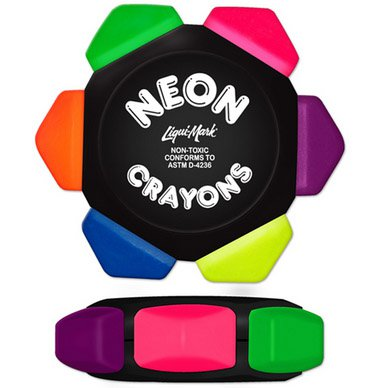 Liqui-Mark Neon Six Color Crayon Wheel