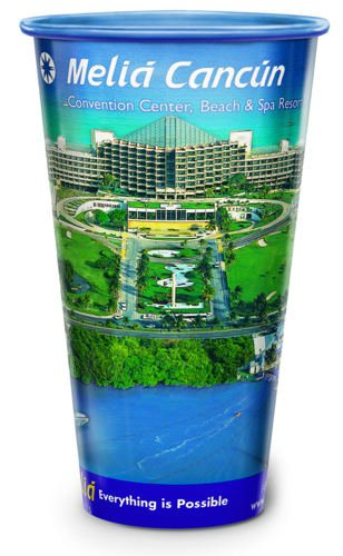 32 oz. Full Color Clear Plastic Cups