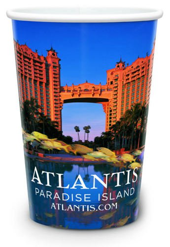 20 oz. Full Color White Plastic Cups