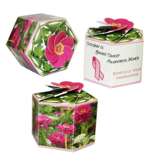 Garden Gems Paper Planters with Zinnia Seeds