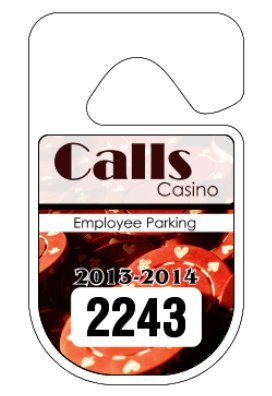 "2.75"" x 4.75"" Rounded Full Color Hang Tag"