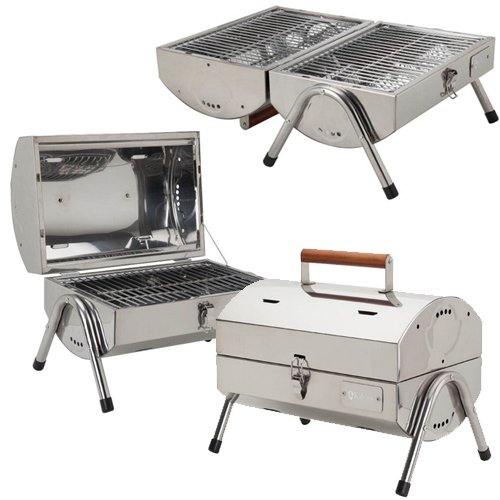 Portable Stainless Steel BBQ Grill   Custom Promotional Products By  PrintGlobe