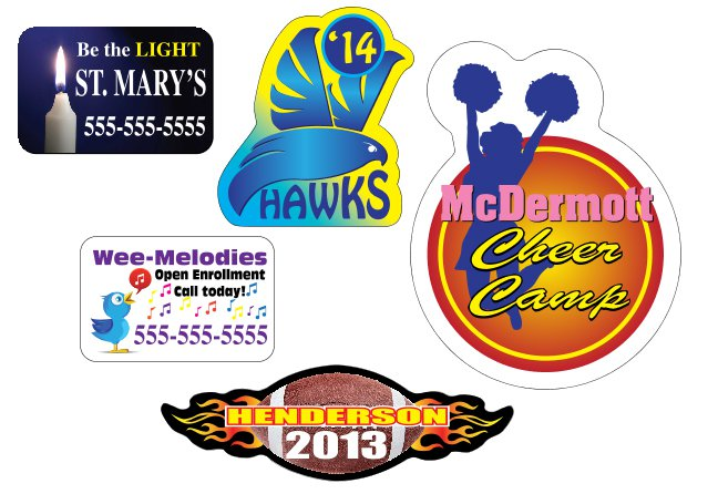 Full Color Car Magnets - Custom Shape