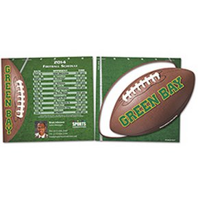 Sports Schedule with Football Punch Out Car Signs