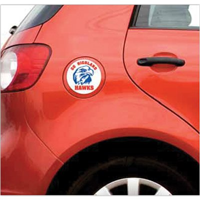 "3-3/4"" Full Color Round Car Sign Magnets"
