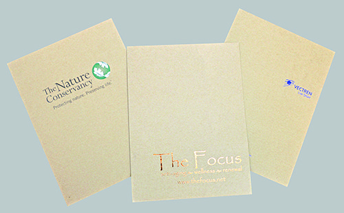 9 x 12 Foil Stamped Recycled Presentation Folders