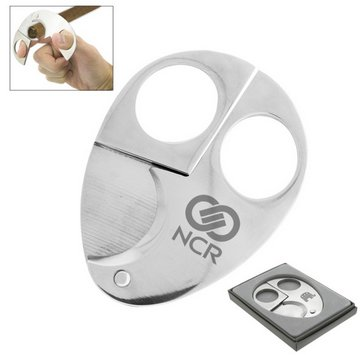 The Bradford Chrome Silver Cigar Cutters