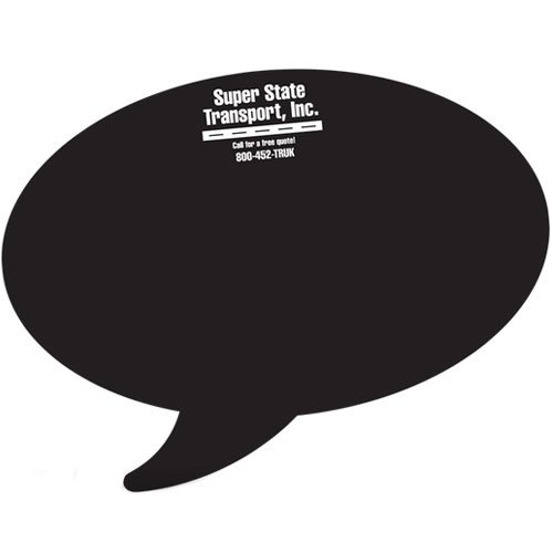 "Thought Bubble Chalkboard Decals - 10"" x 7.5"""