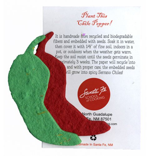 Plantable Serrano Chili Pepper Ornament with Insert Card