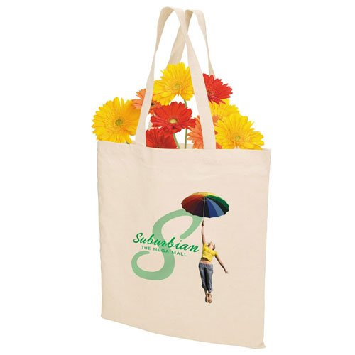 15.75 x 14.75 Natural Cotton Tote Bags