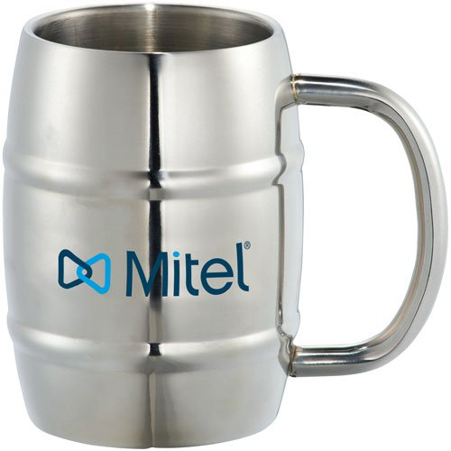 14 oz. Growl Stainless Barrel Mug