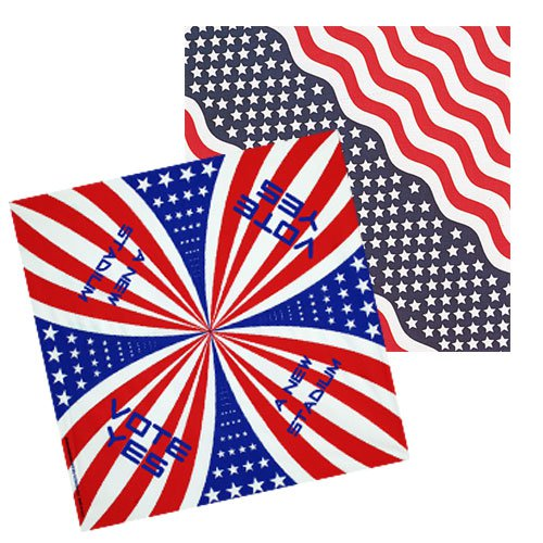 "USA Made 22"" x 22"" Patriotic Bandannas"