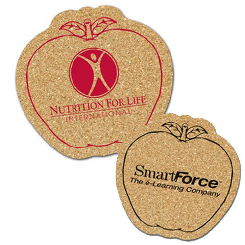 Apple Cork Coasters
