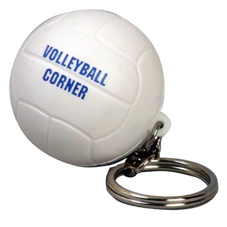 Volleyball Key Chain Stress Balls